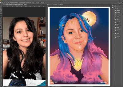 Dibujo Fantasia y color Photoshop