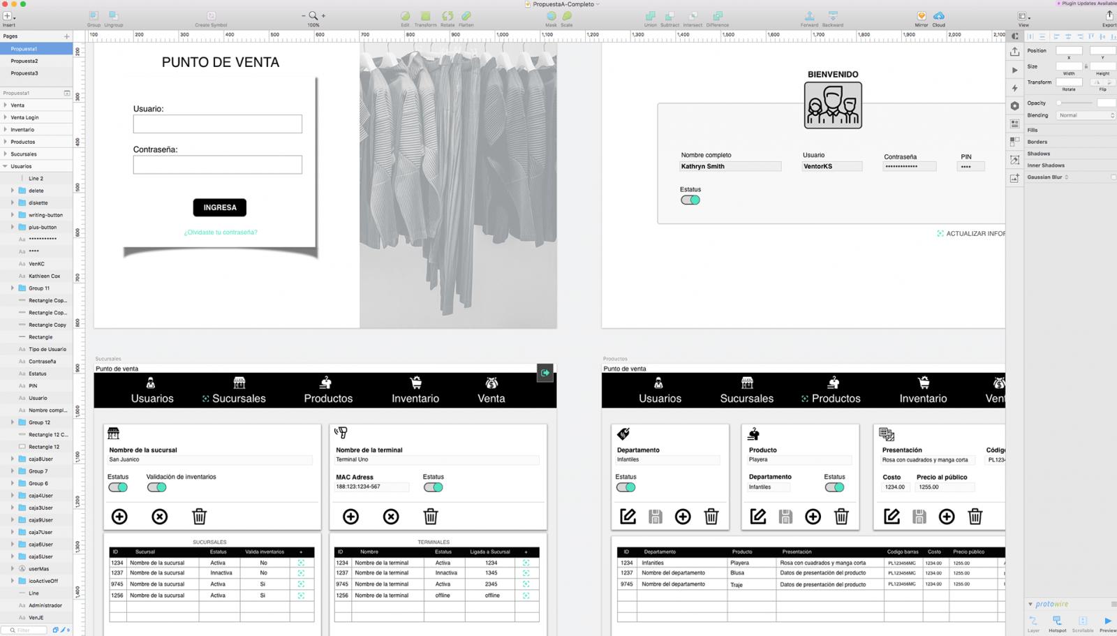 diseño UI y front end para Aplicación Web