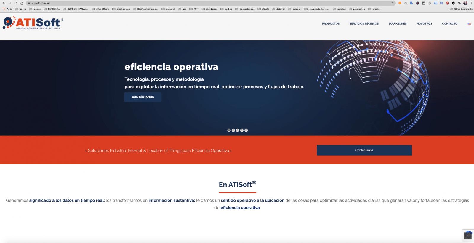 diseño de pagina web atisoft