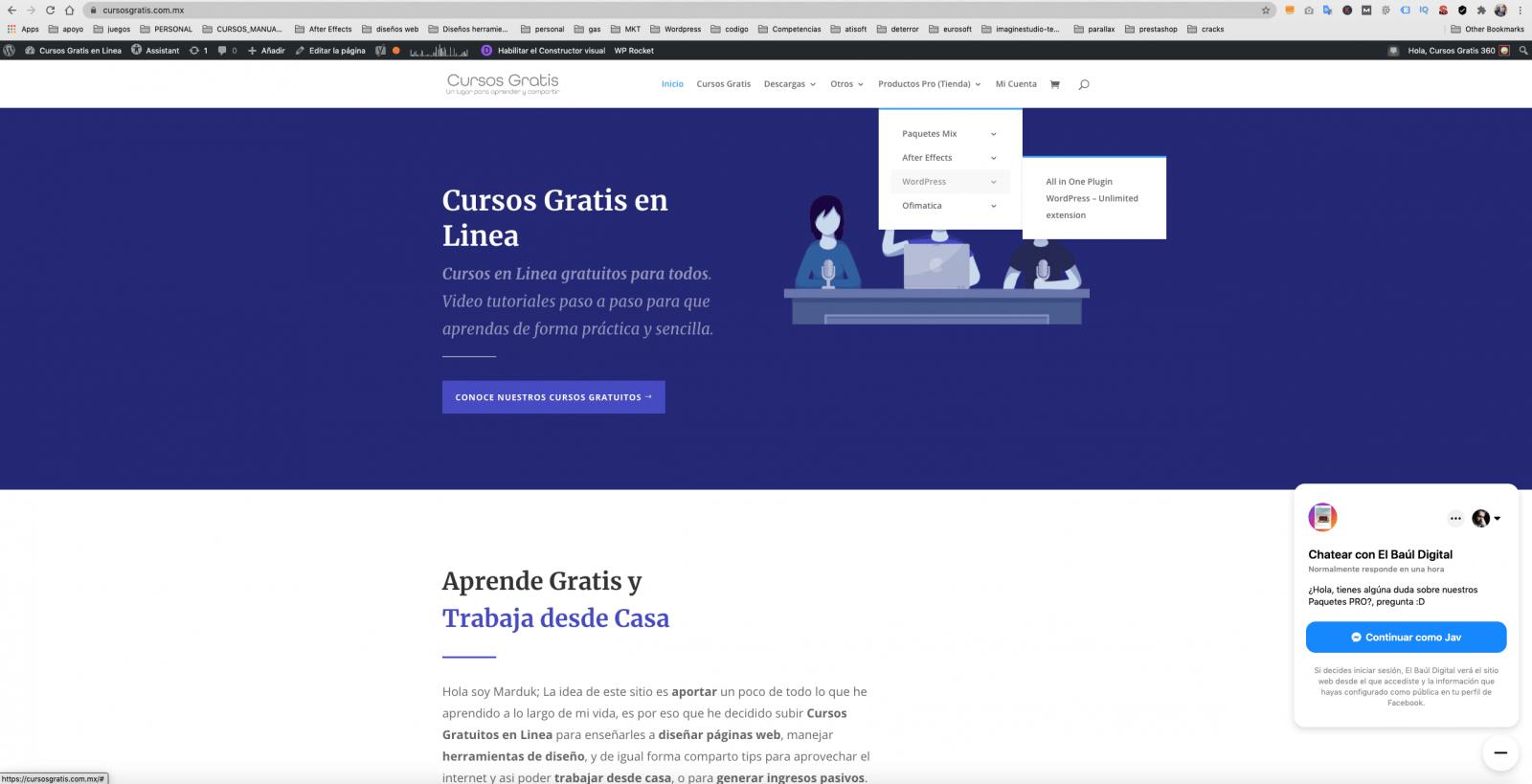 diseño de pagina web cursosgratis