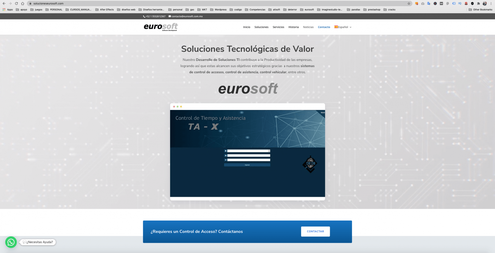 diseño de pagina web eurosoft