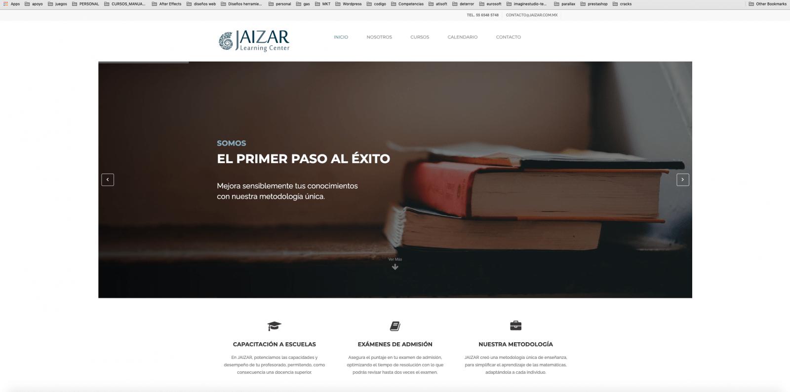 diseño de pagina web jaizar