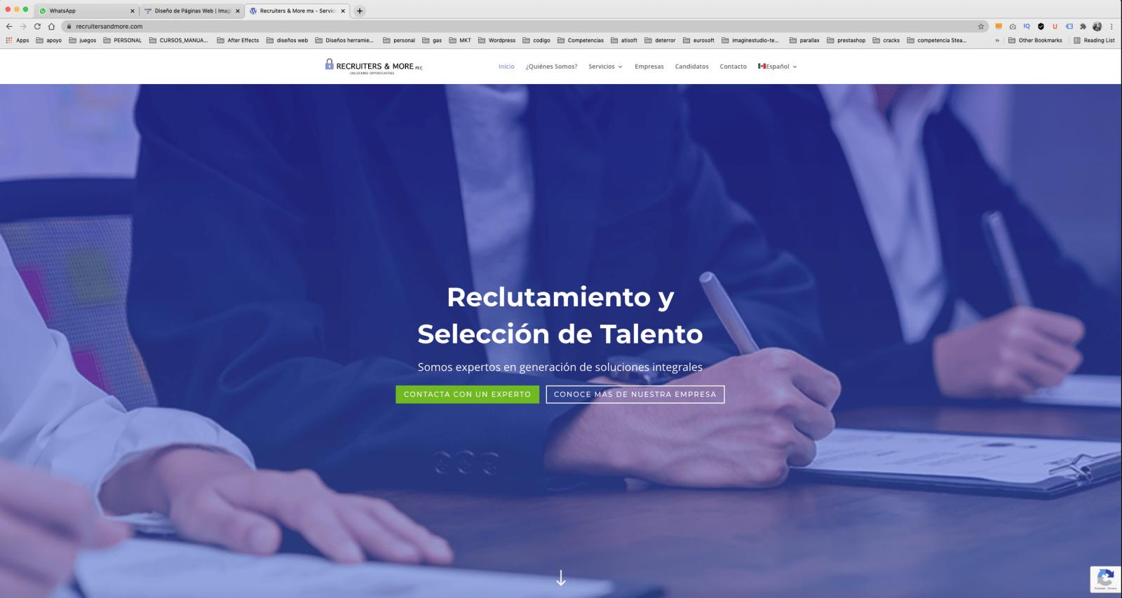 Reclutadores Diseño de pagina web