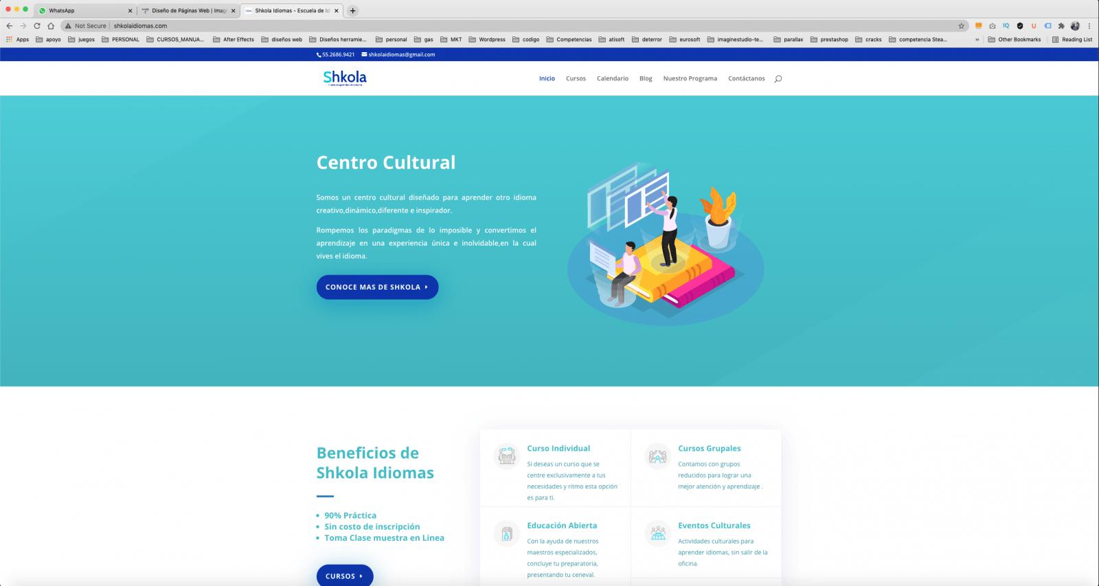Escuela de idiomas diseño de pagina web